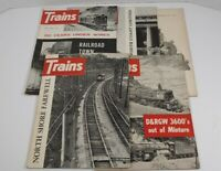 Trains The Magazine Of Railroading Lot Of 5 1963