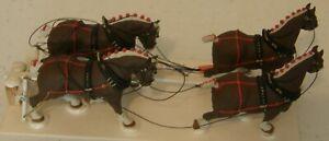 """O"" Scale 4 Horse Wagon Team - Circus"