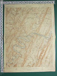1929 MAP ~ GEOLOGICAL MARYLAND VIRGINIA PAWPAW QUADRANGLE