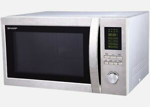 BRAND NEW Sharp R42BST Large Microwave 1100W Stainless Steel Design