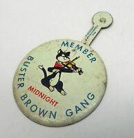 Antique Vintage 1946 Ed McConnell Buster Brown Shoe Gang Member Midnight Button