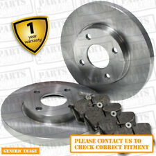 Front Solid Brake Discs Smart Fortwo Cabrio 0.7 Convertible 2004-07 61HP 280mm