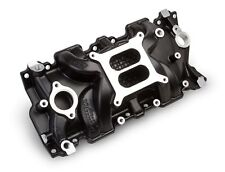 Weiand 8120BK STREET WARRIOR Black Ceramic Intake Manifold Small Block Chevy V8