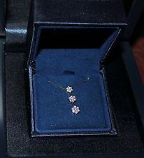 18k Regal Elegance Diamond Flower Past Present Future Necklace White Gold