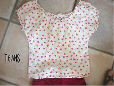 TOP CHEMISIER BLOUSE FRONCEE T 6 ANS BE