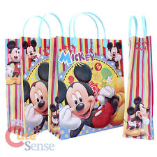 Disney Mickey Mouse Party Gift Bag - 6pc Plastic Reusable Tote Bag