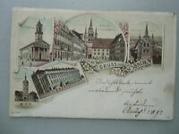 Ansichtskarte Ansbach Litho 1897