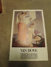 AFFICHE ORIGINALE  EXPOSITION VAN HOVE GALERIE alain blondel Paris 1981  AF7