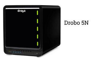 Drobo FS network drive array (proprietary RAID), used, ugly, works