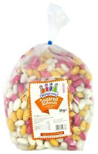 KINGSWAY SUGARED ALMONDS PICK N MIX SWEETS Pre-Packed DAIRY FREE GLUTEN FREE