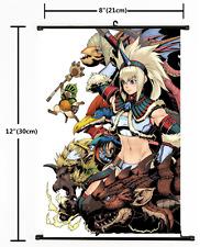Hot Japan Anime Monster Hunter  Wall Poster Scroll Home Decor 1781