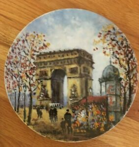 Collectors Plate L'Arc de Triomphe France Limited Edition HE 411 Limoges Dali