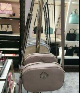 EUC Kate Spade Kourtney Tassel Camera Bag in Warm Beige Leather
