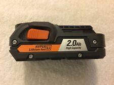 New Ridgid R840086 18V 18 Volt 2.0Ah Hyper Lithium Ion Battery Li-ion