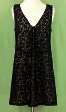 255 Marc by Marc Jacobs womens black lace dress sleeveless v-neck knit EUC Sz L