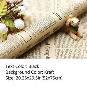 20.25x29.5in Multi-Color NewsPaper Christmas Xmas Gift Flower Wrapping Paper DIY