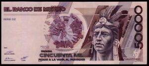 MEXICO 50000 Pesos 01/02/1988 ( CUAUHTEMOC ) Series DZ, RR9307XX Pick-93a, UNC