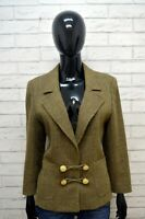 Valentino Miss V Giacca Vintage Taglia M In Lana Donna Jacket Woman Cappotto TOP