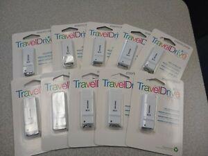 Lot of 10 Memorex TravelDrive 8 GB USB Flash  Pen Drive - White  (10 Pack )