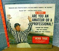 HERB TRUE autograph vinyl Are You An Amateur or Professional record album 1970s