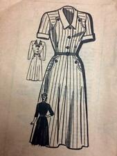 Unprinted Marian Martin DRESS sewing pattern, size 38""