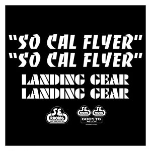 SE Racing SO CAL FLYER frame & fork decal kit WHITE BMX  BIKE LIFE