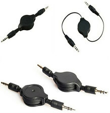 3.5mm Black Retractable Cable Aux Retractable Auxiliary Cord For Car Mp3 1Pcs Ch