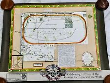 Indianapolis Motor Speedway Indy 500 CENTENNIAL ERA Vintage Look Track Poster