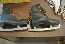 Vintage Black Ice Skates - Size 11 ( Used )