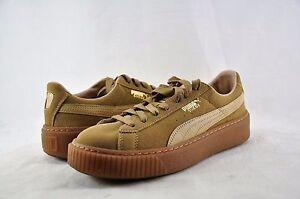 Women's Shoes Puma Suede Platform Core Sneakers 36355903 Oatmeal Size 11 *New*