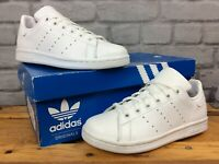 ADIDAS STAN SMITH WHITE TRAINERS WHITE HEEL VARIOUS SIZES CHILDRENS, BOYS, GIRLS
