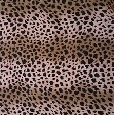 Leopard Pink Black Brown Rayon Challis Fabric  Apparel & Fashion Sewing 6yds