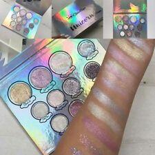Womens Glitter Eyes Unicorn 11 Colors Palette Eyeshadow Glitter Glow Make-Up ILC
