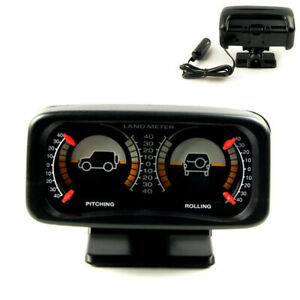 Universal Car Dashboard LED Backlight Inclinometer Auto Pitching Rolling Meter