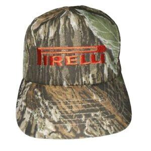 Pirelli Tires Camo Snapback Hat Cap