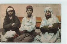 ALGERIA  SMALL WAXERS PICTORIAL POSTCARD W/ MESSAGE