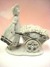 New ListingRetired Love'S Tender Tokens Re-Deco Girl With Flowers Figurine By Lladro #7046