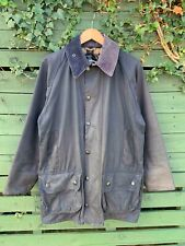 Mens Barbour Classic Beaufort Navy waxed jacket size C38 97CM Medium