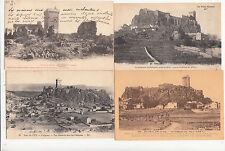 Lot 4 cartes postales anciennes LE PUY château de polignac 2