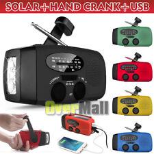 Solar Power Hand Crank Emergency AM/FM/WB NOAA Weather Radio 10000LM Flashlight
