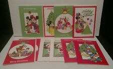 Walt Disney Mickey Mouse Christmas Cards Vintage Lot of 12 Crafts C2