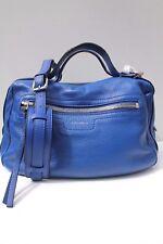 Karen Millen Blue Sporty Leather Cross Weekend Shoulder Bag Handbag Satchel Tote