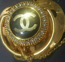 Girl/boy Bling romany Stone Gold design Dummy,Clip sep list,gift/baby shower,new