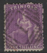 TRINIDAD SG67 1862 1/= BRIGHT MAUVE USED