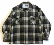 Pendleton Vintage Shirt USA 60's 70's Shadow Plaid Rockabilly Wool Surf Board G