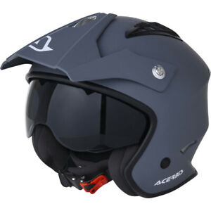 Acerbis MX Jet Aria Grey ATV Motocross Adventure Helmet