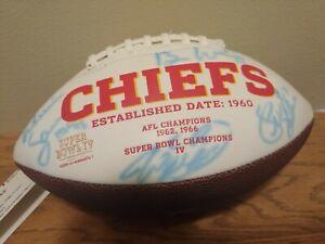 Autographed Kansas City Chiefs Football: Tony Gonzalez, Will Shields,