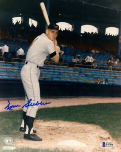 NORM SIEBERN SIGNED AUTOGRAPHED 8x10 PHOTO BALTIMORE ORIOLES RARE BECKETT BAS