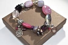 "Silpada~""Fruit Basket"" Sterling Silver & Multi-Stone Stretch Bracelet~B2320"