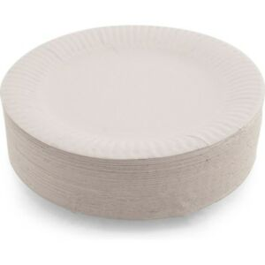 """100 Paper Plates Party Round Disposable 6"""" 7"""" 9"""" White Wedding Birthday Occasion"""